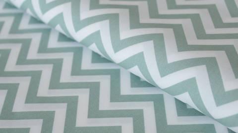 Mint-weißer Baumwollstoff: Herringbone - 150 cm kaufen im Makerist Materialshop