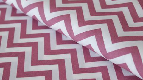 Rosa-weißer Baumwollstoff: Herringbone - 150 cm kaufen im Makerist Materialshop