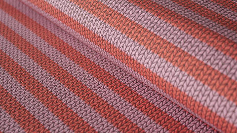 Orangener Hamburger Liebe Jacquard-Jersey: Maxistripes - 135 cm kaufen im Makerist Materialshop