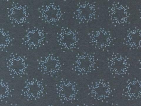Dunkelgrauer Baumwolljersey: French Terry - Glitter Stars - 155 cm kaufen im Makerist Materialshop
