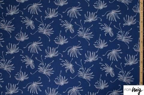 Blauer Modalstoff lillestoff: Good Night Lulu - 150 cm kaufen im Makerist Materialshop