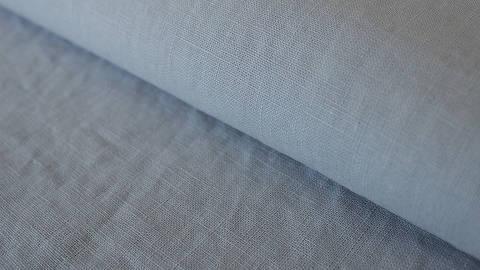 Silbergrauer Leinenstoff: Damiel - 140 cm kaufen im Makerist Materialshop