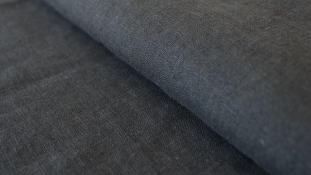 Schwarzer Leinenstoff: Damiel - 140 cm - Stoffe kaufen im Makerist Materialshop