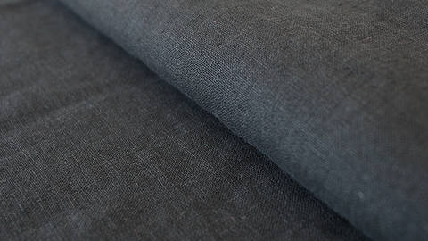 Leinenstoff schwarz: Damiel - 140 cm kaufen im Makerist Materialshop