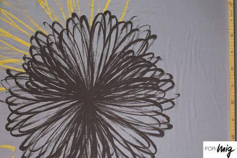 Grauer Modalstoff lillestoff: Riesenblume - 150 cm kaufen im Makerist Materialshop