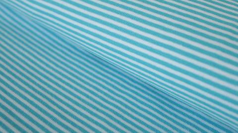 Hamburger Liebe Rippbündchen: Ringelbündchen hellblau-weiß - 75 cm kaufen im Makerist Materialshop