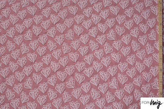 Rosafarbener Modalstoff lillestoff: Cilianto Flower - 150 cm - Stoffe kaufen im Makerist Materialshop