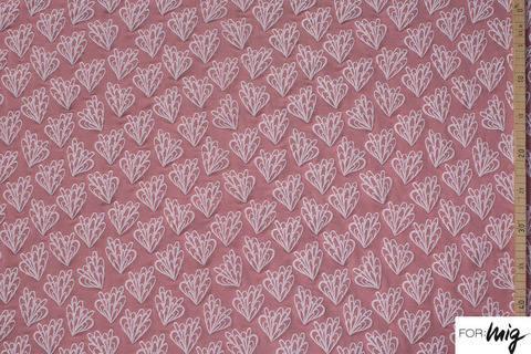 Rosafarbener Modalstoff lillestoff: Cilianto Flower - 150 cm kaufen im Makerist Materialshop