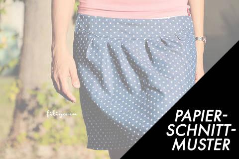 Gedrucktes Schnittmuster für: Minirock mit Passe Gr. 34-50 PRACHTKINDER❤ kaufen im Makerist Materialshop