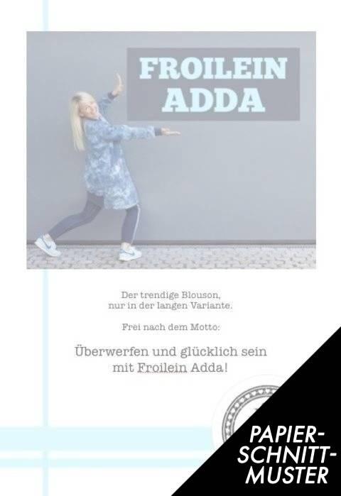 Gedrucktes Schnittmuster für: Froilein Adda - der lange Blouson kaufen im Makerist Materialshop