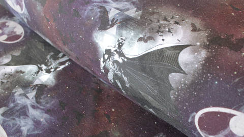 Nachtblauer Lizenz Baumwolljersey: Batman - 150 cm - ARCHIVIERT - kaufen im Makerist Materialshop