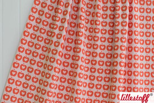 Orangefarbener Jacquard lillestoff: Apple Liefde - 160 cm - Stoffe kaufen im Makerist Materialshop