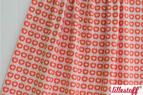 Orangefarbener Jacquard lillestoff: Apple Liefde - 160 cm kaufen im Makerist Materialshop