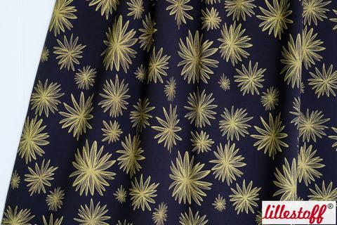 Blau-goldener Bio-Jersey lillestoff: El Oro - 160 cm kaufen im Makerist Materialshop