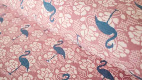 Altrosa Jersey: Tricot Flamingo Lace  - 150 cm kaufen im Makerist Materialshop