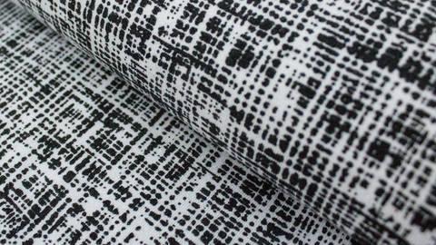 Schwarz weißer Jersey: Megan Blue Tricot Drawing Dark - 150 cm kaufen im Makerist Materialshop