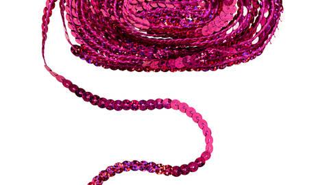 Paillettenborte irisierend 6 mm pink kaufen im Makerist Materialshop