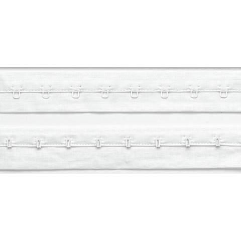 Haken- und Augenband mit Abst. 19 mm weiß kaufen im Makerist Materialshop