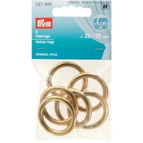 Hohlringe MS 26/35 mm goldfarbig kaufen im Makerist Materialshop