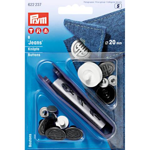 NF-Jeans-Knöpfe Artdeco - 20 mm -  MS alteisen - 6 St - mit Werkzeug kaufen im Makerist Materialshop