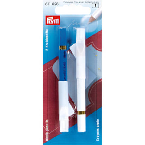 Kreidestifte + Bürste weiß/blau kaufen im Makerist Materialshop