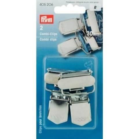 Combi-Clips ST 30 mm silberfarbig kaufen im Makerist Materialshop