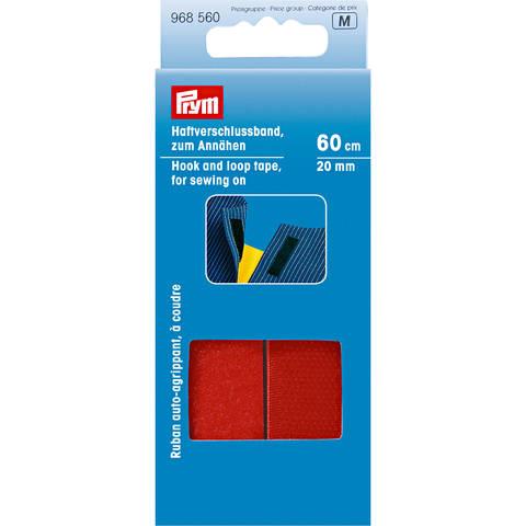 Haftverschlussband zum Annähen 20 mm rot kaufen im Makerist Materialshop