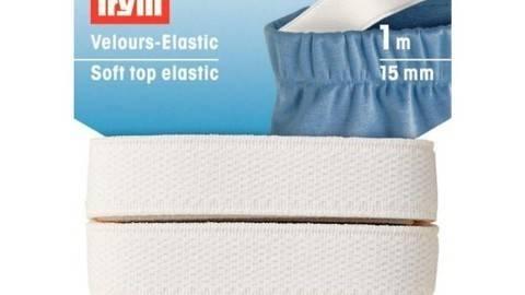 Velour-Elastic 15 mm weiß (A953091) kaufen im Makerist Materialshop