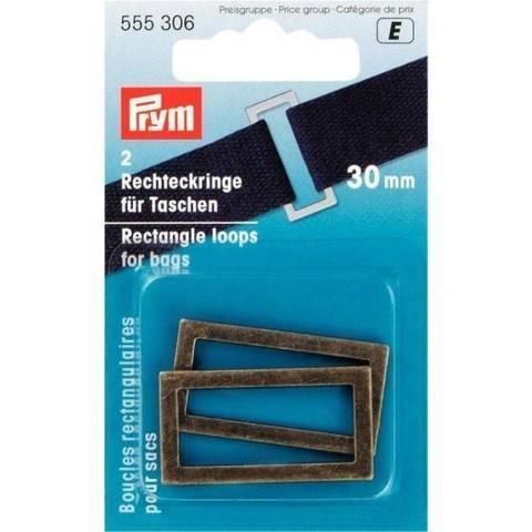 Rechteckringe für Taschen 30 mm altmessing im Makerist Materialshop