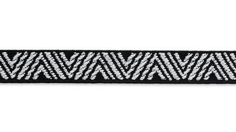 Color-Elastic 25 mm Zacken schwarz/weiß kaufen im Makerist Materialshop