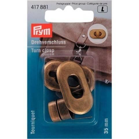 Drehverschluss für Taschen altmessing kaufen im Makerist Materialshop