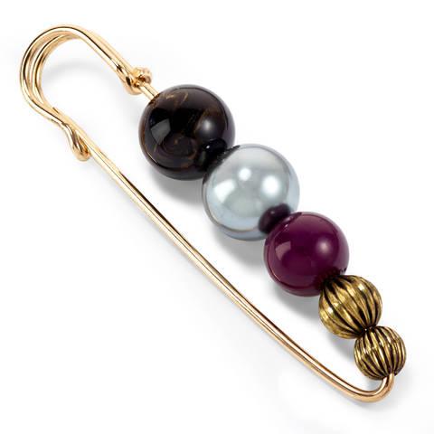 Schmucknadel Perlen 80 mm schwarz/silber/rot kaufen im Makerist Materialshop