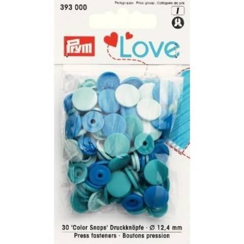 Prym Love Druckknopf Color KST 12,4 mm blau kaufen im Makerist Materialshop