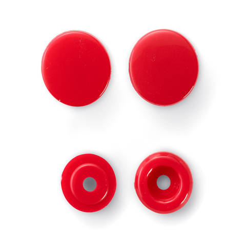 NF Druckknöpfe Color Snaps rund 12,4 mm rot 30 Stück kaufen im Makerist Materialshop