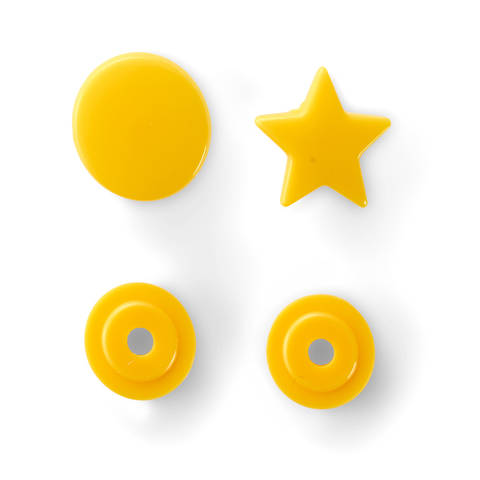 NF Druckknöpfe Color Snaps Stern gelb 30 Stück kaufen im Makerist Materialshop