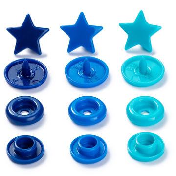 Prym Love Druckknopf Color Stern 12,4 mm blau/türkis/tinte - Kurzwaren und Zubehör kaufen im Makerist Materialshop