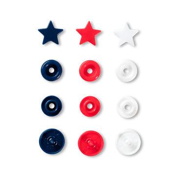 Prym Love Druckknopf Color Stern 12,4 mm rot/weiß/marine - Kurzwaren und Zubehör kaufen im Makerist Materialshop