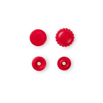 NF Druckknöpfe Color Snaps Blume 13,6 mm rot 21 Stück - Kurzwaren und Zubehör kaufen im Makerist Materialshop