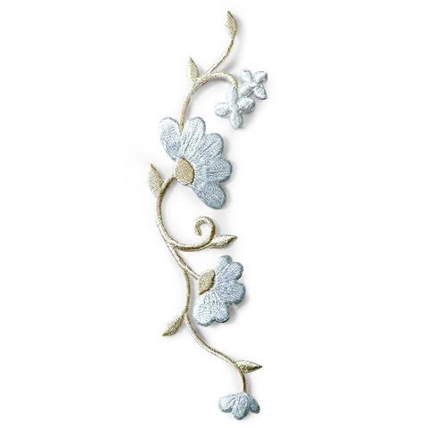 Applikation Blumenranke weiß/creme kaufen im Makerist Materialshop