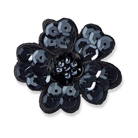 Applikation Paillettenblume schwarz kaufen im Makerist Materialshop