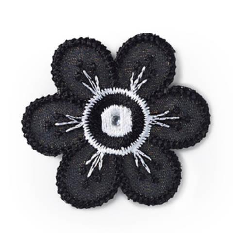 Applikation Blume schwarz/weiß kaufen im Makerist Materialshop