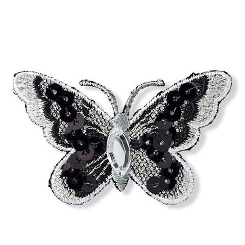 Applikation Schmetterling schwarz/weiß kaufen im Makerist Materialshop
