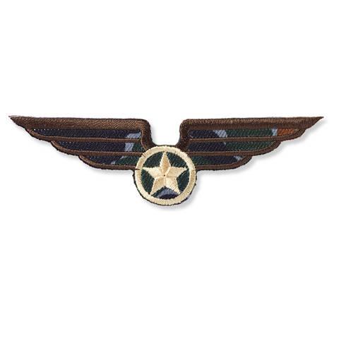 Applikation Military Flügel mit Stern braun kaufen im Makerist Materialshop