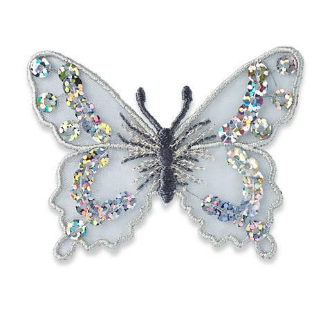 Applikation Schmetterling silber kaufen im Makerist Materialshop