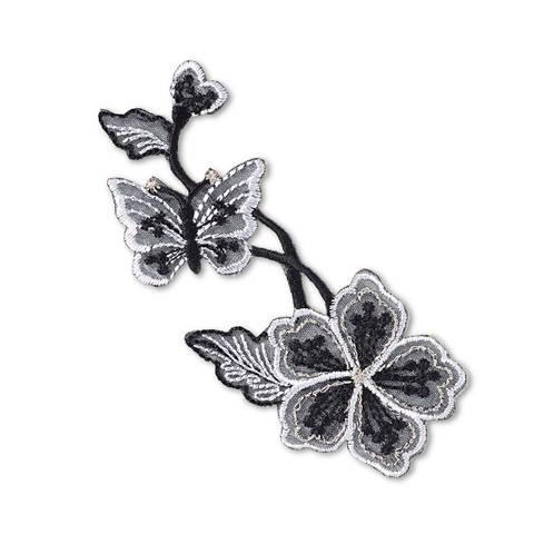 Applikation selbstkl./aufb. Blumenranke schwarz kaufen im Makerist Materialshop