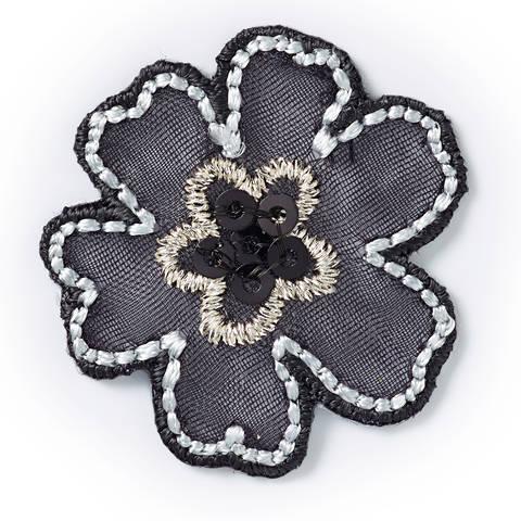 Applikation Blume schwarz kaufen im Makerist Materialshop