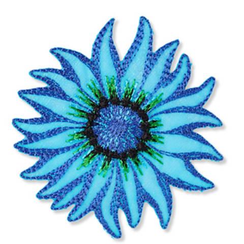 Applikation Exklusiv Blume blau/bleu kaufen im Makerist Materialshop