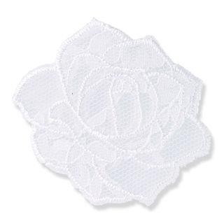 Applikation Blume Spitze weiß - Kurzwaren und Zubehör kaufen im Makerist Materialshop
