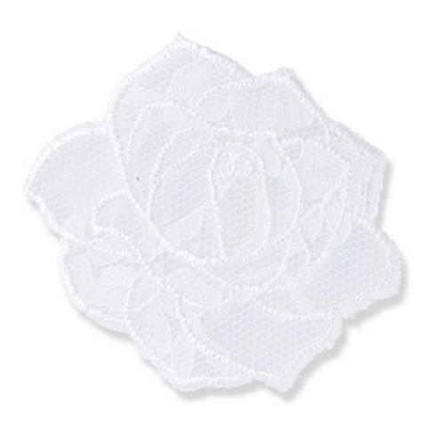 Applikation Blume Spitze weiß kaufen im Makerist Materialshop