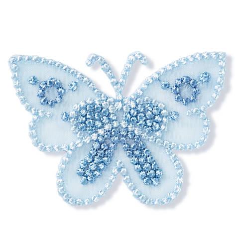 Applikation Schmetterling klein blau Organza kaufen im Makerist Materialshop